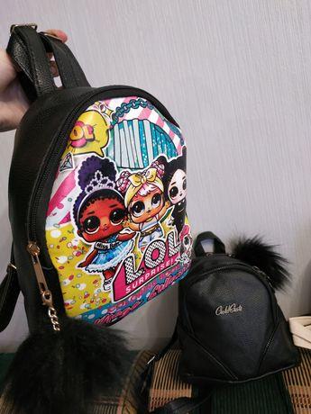 Скидка к празднику!! Детский рюкзак лол, кожзам, динозавр.