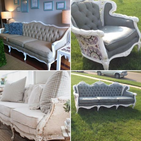 Elegante chic tufted French style settee