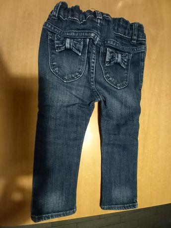 Spodnie jeans dla dziewczynki baby Gap 86-92cm