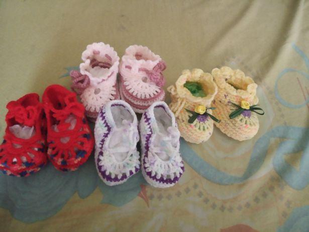 Тапочки для принцессы вязание
