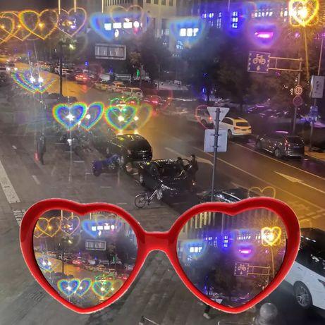 Дифракционные очки с эффектом сердец
