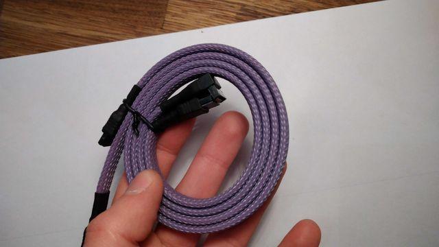 Kabel Sata II w oplocie MDPC Violet, 30cm, PC mod