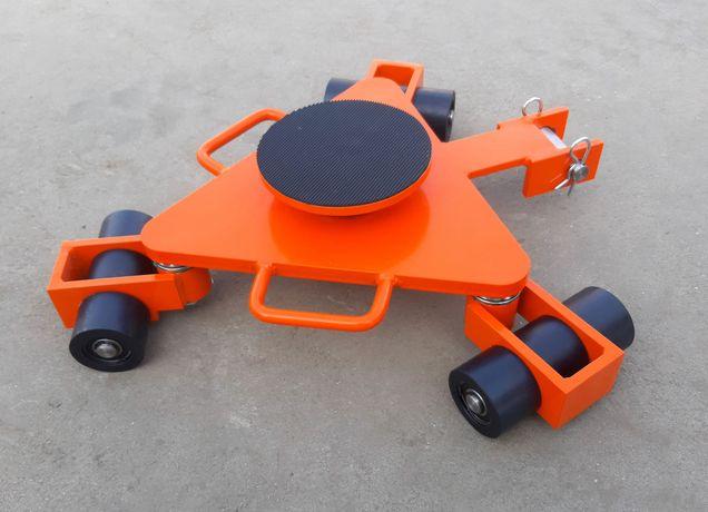 Wózek rotacyjny Wr3o/9 z płytą obrotową do transportu maszyn