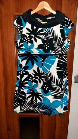 Sukienka mini / tunika Quiosque, w kwiaty, rozmiar 40, idealna