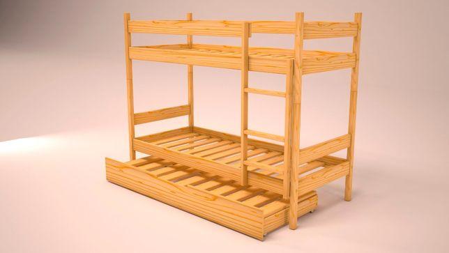 łóżko piętrowe 200x80 wysuwane z szufladami