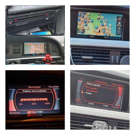 Audi aktualizacja map MMI2G RNSE polskie menu audi a8 a6 q7 a4 a3