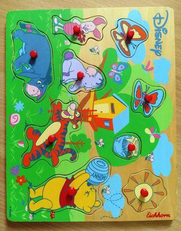 Zabawka drewniana - PUZZLE Kubuś Puchatek Disney