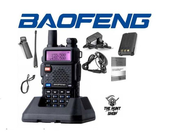 Krótkofalówka Baofeng UV-5R HT 5W Czarny Radiotelefon + słuchawka