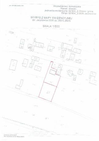Działka budowlana 21 ara, Jaczkowice, prąd, kanalizacja