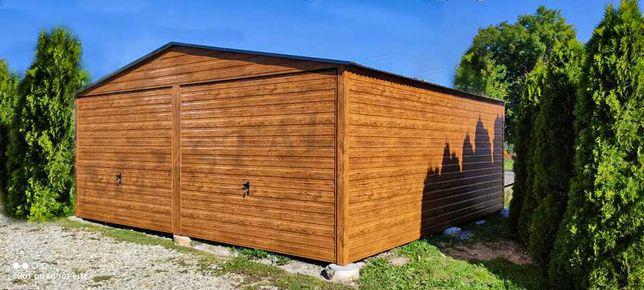 Garaże PREMIUM drewnopodobne, profil zamknięty