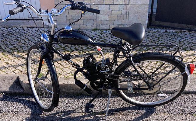 (PROMOÇÃO) Montagem + kit a motor 80/100c Venda de bicicletas a motor