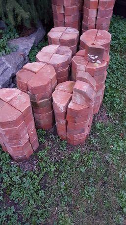 Klinkierowe kształtki ceglane zabytkowe oryginalne cegła z rozbiórki