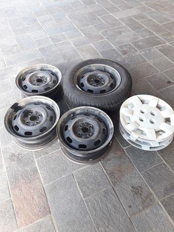 Залізні диски кіа 4/100 З ковпаками + зимня шина 185/65r14
