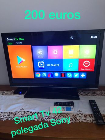 Smart tv da Sony com 42 polegadas