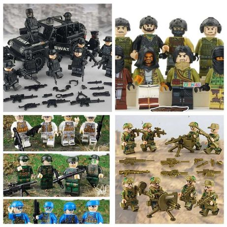 Фигурки, человечки, спецназ, машина, солдаты, военные, мстители  лего