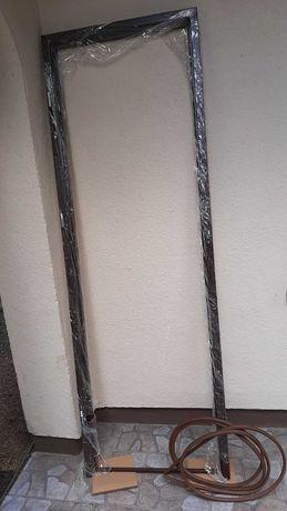 Ościeżnica stalowa, brązowa, 60cm do drzwi zewnętrznych, lewe