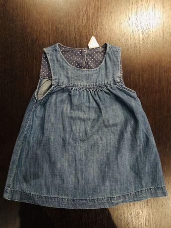 Sukienka jeansowa H&M rozmiar 68