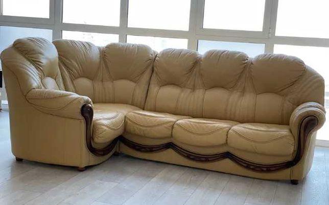 Роскошный кожаный уголок, мягкая мебель, диван