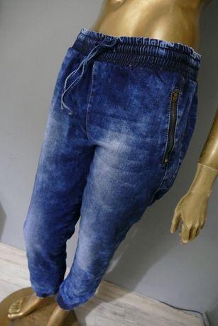 Miss RJ denim nowe odjechane joggery kieszenie zip L