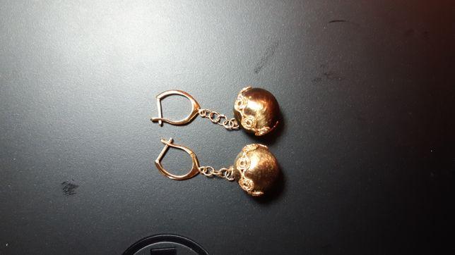 Дуже круті сережки, черньоне золото 585 проба