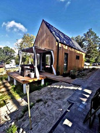 Domek drewniany na pozwolenie z antresolą całoroczny 35 m2