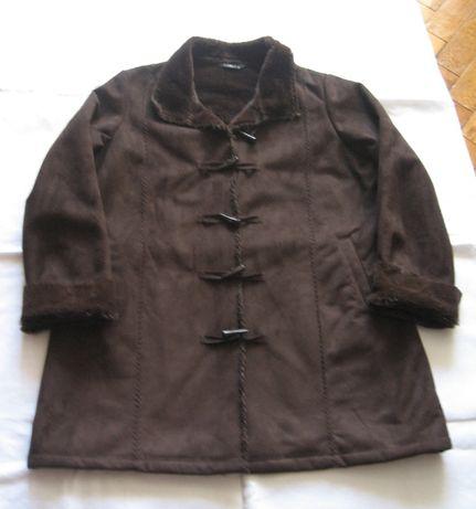 Стильная куртка дубленка весна осень,шоколадного цвета