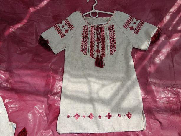 Плаття хрестиком  дитяче ручна робота