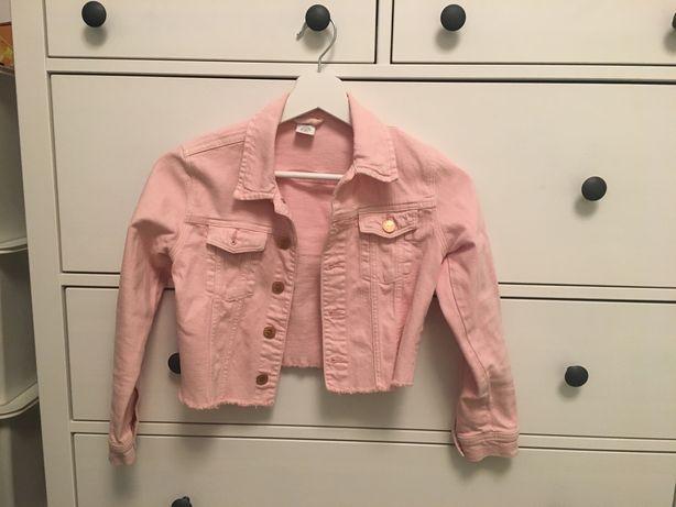 Kurtka różowa dzinsowa jeansowa lindex