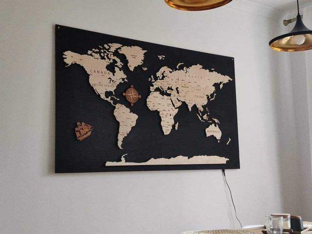 Toppery , zeszyty, mapy świata, indywidualne projekty