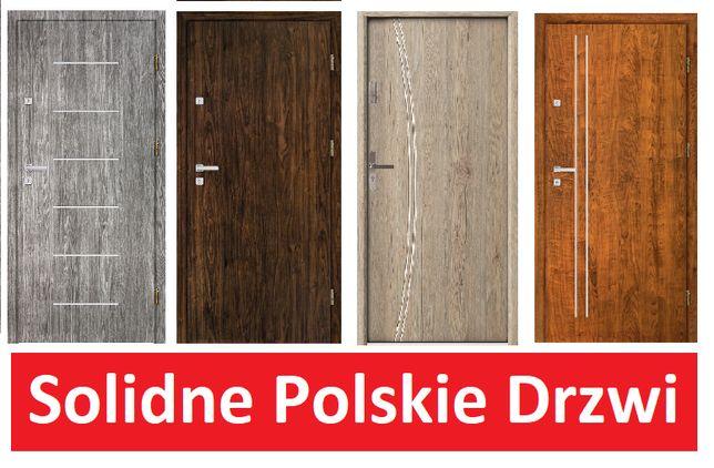 Będzin Drzwi wejściowe z montażem, do domu/mieszkania/bloku wzmacniane