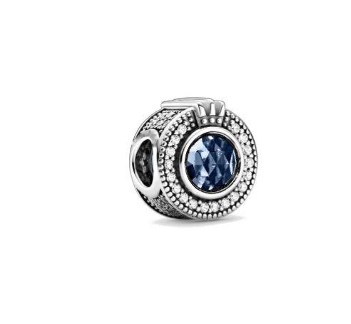 Klasyczny niebieski srebrny CHARMS do bransoletki Pandora S925