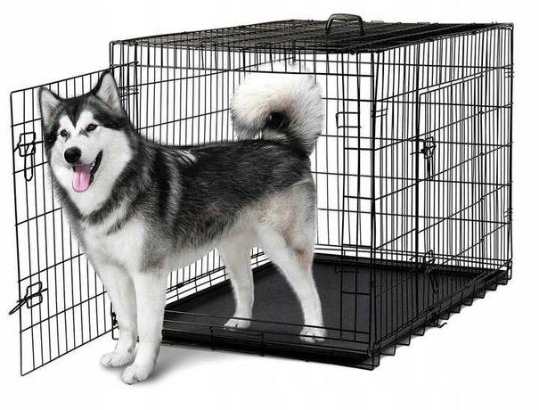 Duża Klatka Kennelowa Zagroda Kojec Transporter dla psa i zwierząt XXL