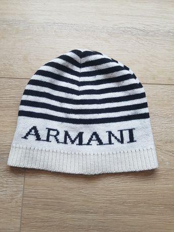 Niemowlęca czapka Armani Junior włoska r. 56 ok 40cm, z wełną, ciepła