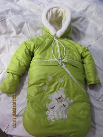 Детский комбинезон на овчине(трансформер)2 в 1, 0-2год