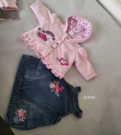 Zestaw ubranka dla dziewczynki niemowlak 62 68 80