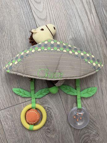 Игрушка на дугу Chicco, стульчик для кормления
