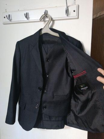 Школьный костюм тройка для мальчика, рубашка, брюки