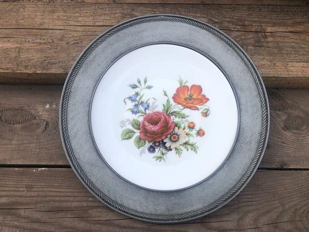 Talerz porcelana kwiatki Apilco