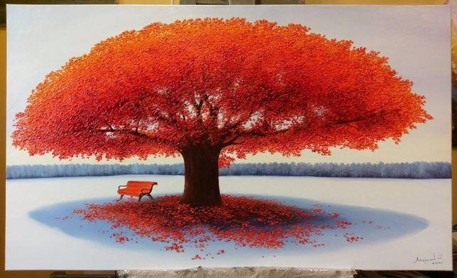 «Дерево щастя»,полотно,олійні фарби ,100-60см.