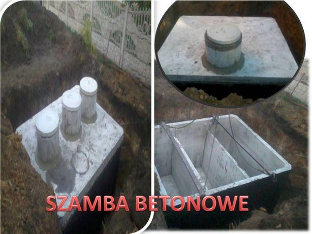 Szamba 2,4,5,6,8,9,10,11,12m3 szambo zbiornik betonowy Extra Ceny