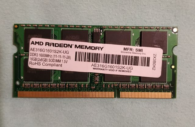 Оперативная память для ноутбука DDR3 16gb 1600 AMD