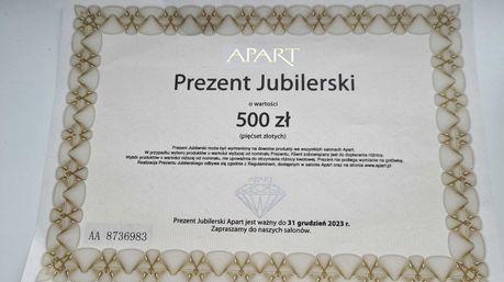 Bon jubilerski prezent karta APART 500zł