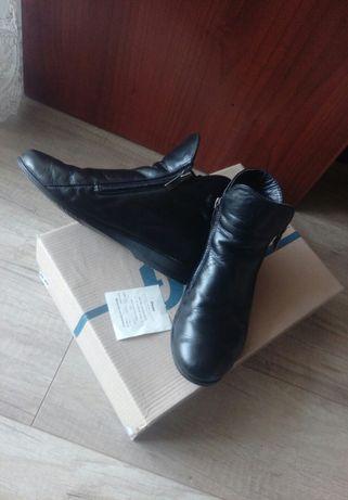 Полусапожки ботинки кожаные кожа демисезонные деми