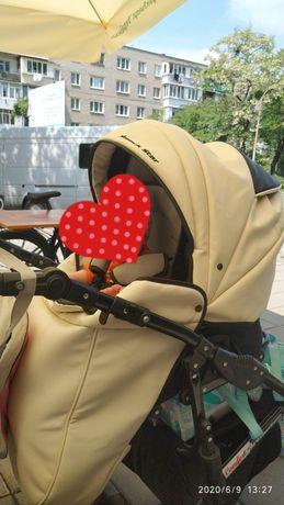 Дитяча коляска 2 в 1 Angelina Phaeton Black Star Comfort біла
