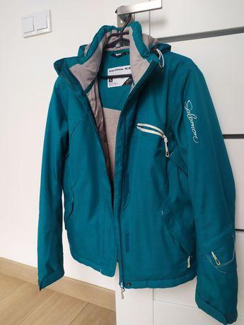 Kurtka narciarska snowboardowa, Salomon, rozm S, kolor morski turkus