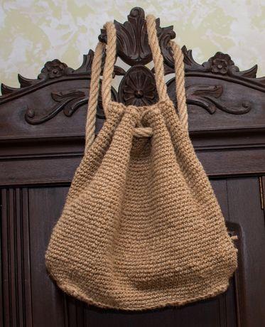 Рюкзак из натурального джута ручной работы