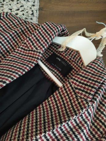 Płaszcz damski kratka Sinsay
