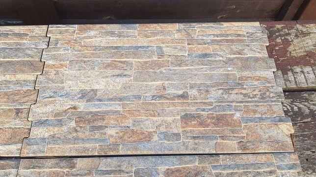 Фасадный клинкер c фактурой под камень Nigella Dark