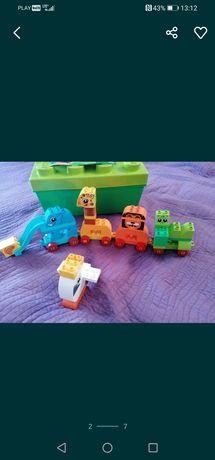 Lego Duplo 10863 pociąg Safari Pojemnik pudełko na klocki