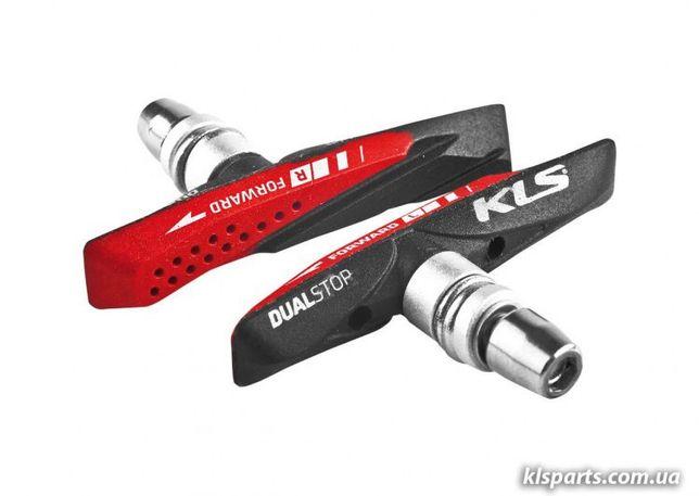 Колодки гальмівні (тормозные) KLS DUALSTOP V-02 для V-BRAKE